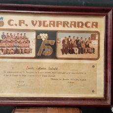 Coleccionismo deportivo: FOTO CONMEMORATIVA CF VILAFRANCA 1904 1979. Lote 275259468