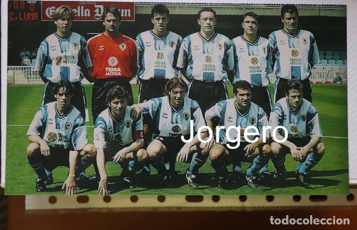HÉRCULES C.F. ALINEACIÓN PARTIDO DE LIGA 1998-1999 EN EL MINI ESTADI CONTRA BARCELONA B. FOTO (Coleccionismo Deportivo - Documentos - Fotografías de Deportes)