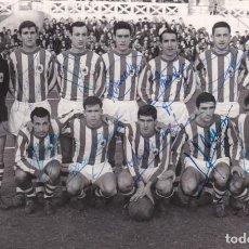 Colecionismo desportivo: FOTO Y FIRMAS ORIGINALES REAL SOCIEDAD SAN SEBASTIAN 14X9 CMS. FOTO APARICIO. Lote 277180003