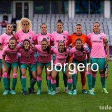 Coleccionismo deportivo: F.C. BARCELONA FEMENINO. ALINEACIÓN GANADOR CHAMPIONS 2020-2021 EN GOTEMBURGO CONTRA CHELSEA. FOTO. Lote 285697128