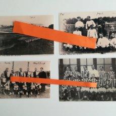 Coleccionismo deportivo: ATHLETIC BILBAO. LOTE DE 4 FOTOGRAFÍAS.. Lote 288175993