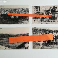 Coleccionismo deportivo: ATHLETIC BILBAO. LOTE DE 4 FOTOGRAFÍAS.. Lote 288176318