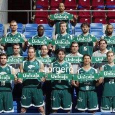 Colecionismo desportivo: UNICAJA MÁLAGA BALONCESTO 2004-2005. CAMPEÓN COPA DEL REY. FOTO. Lote 290789233