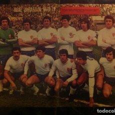 Coleccionismo deportivo: POSTER AS COLOR REAL ZARAGOZA , LIGA 78-79 1978 1979. Lote 292954143