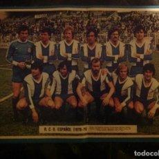 Coleccionismo deportivo: POSTER AS COLOR R.C. D ESPAÑOL , LIGA 78-79 1978 1979. Lote 292954498
