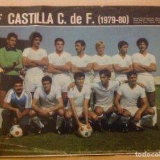 Coleccionismo deportivo: POSTER AS COLOR CASTILLA LIGA 79-80 1979 1980 MINI POSTER. Lote 292956178