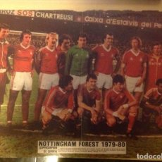 Coleccionismo deportivo: POSTER AS COLOR NOTTINGHAM FOREST 79-80 SUPERCAMPEON DE EUROPA 1979 1980. Lote 292957413