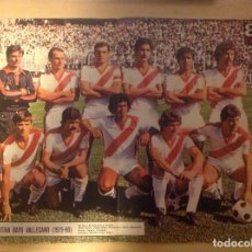 Coleccionismo deportivo: POSTER AS COLOR RAYO VALLECANO 79-80 1979 1980. Lote 292958148