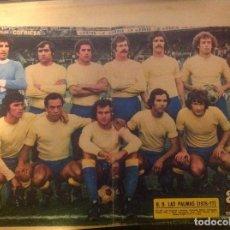 Coleccionismo deportivo: POSTER AS COLOR LAS PALMAS LIGA 76-77 1976 1977. Lote 292959743