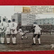 Colecionismo desportivo: FOTO FUTBOL FINEZAS LEVANTE 2 MESTALLA VALENCIA 2 CAMPO DE VALLEJO ORIGINAL. Lote 293236533