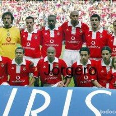 Colecionismo desportivo: S.L. BENFICA. ALINEACIÓN PARTIDO DE LIGA 2004-2005 EN DO BESSA XXI CONTRA BOAVISTA. FOTO. Lote 294498038