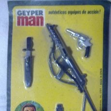 Geyperman: GEYPERMAN. RFA. 7309, BLISTER AMETRALLADORA, PISTOLA, BAYONETA, A ESTRENAR.. Lote 233483030