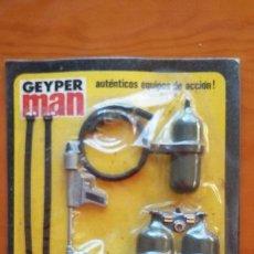 Geyperman: GEYPERMAN BLISTER DE LANZALLAMAS. PANOPLIA DE LA REFERENCIA 7308 DEL AÑO 1975. Lote 52692638
