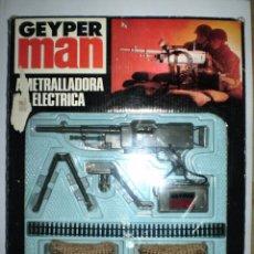 Geyperman: GEYPERMAN - AMETRALLADORA ELÉCTRICA - EN CAJA COMPLETA Y FUNCIONANDO - MADE IN SPAIN AÑOS 70´S. Lote 54205229