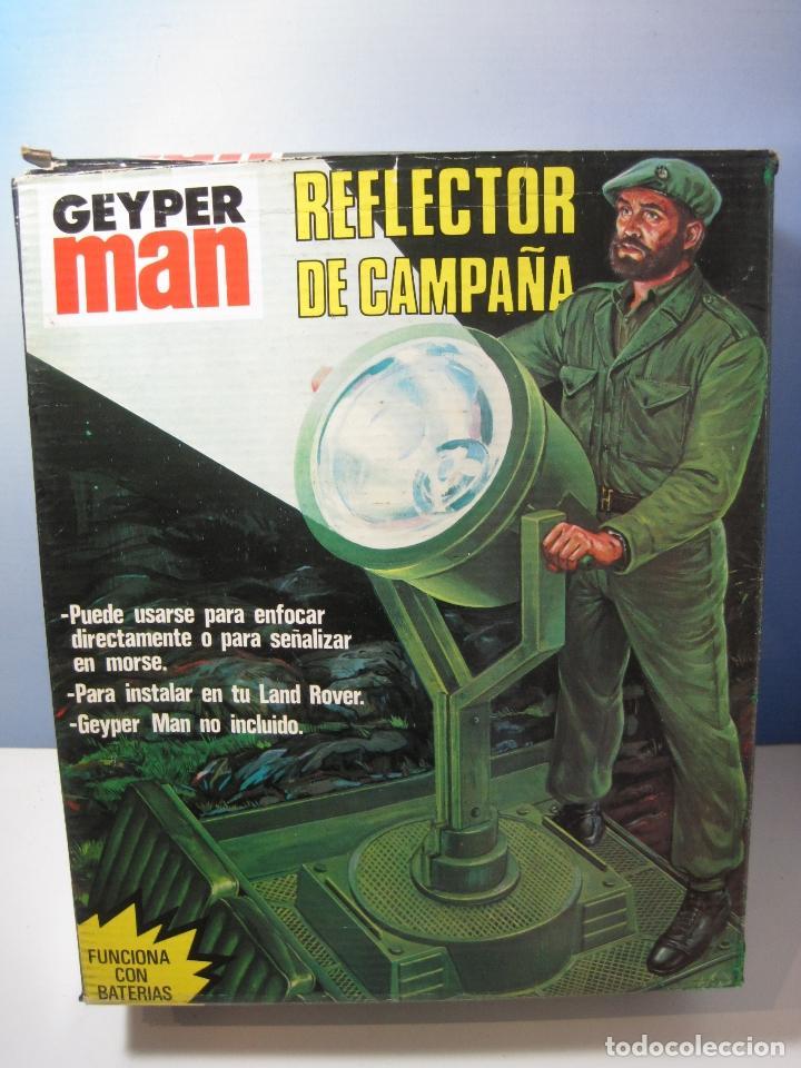 GEYPERMAN REFLECTOR REFERENCIA 7416 ORIGINAL AÑOS 70 EN CAJA (Juguetes - Figuras de Acción - Geyperman)