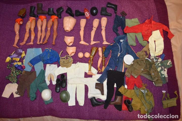 SUPER LOTE PIEZAS Y ACCESORIOS ANTIGUOS - ACTION MAN PALITOY --- GI JOE 1964 - ¡HAZ OFERTA! (Juguetes - Figuras de Acción - Geyperman)