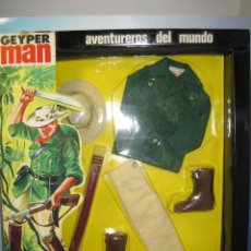 Geyperman: GEYPERMAN TRAJE DE EXPLORADOR DE LA JUNGLA NUEVO PERO EN CAJA ORIGINAL AÑOS 70. Lote 87059948