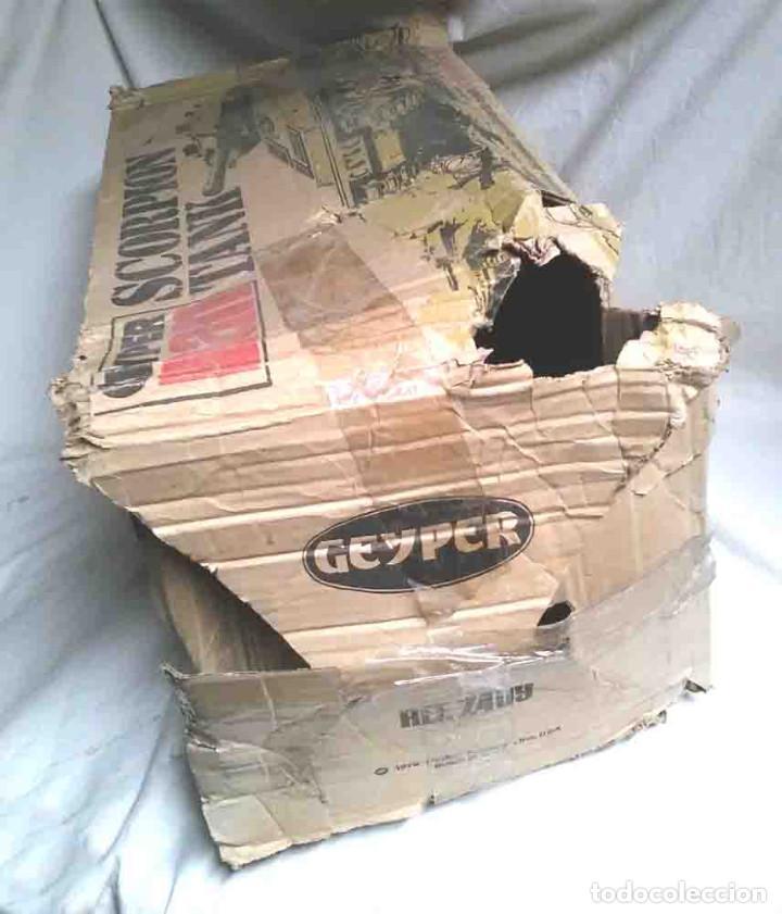 Geyperman: Tanque Scorpion de Geyperman año 75, no jugado resto tienda, con caja algo fatigada - Foto 11 - 109972387