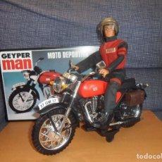 Geyperman: GEYPERMAN MOTORISTA Y SU MOTO DEPORTIVA.. Lote 111408951