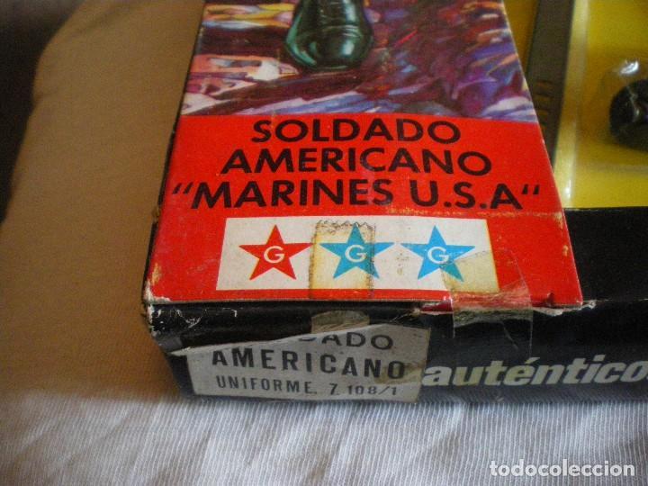 Geyperman: GEYPERMAN PRIMERA GENERACION CAJA DE TRAJE DE SOLDADO AMERICANO MARINES U.S.A. USADA - Foto 2 - 123501751