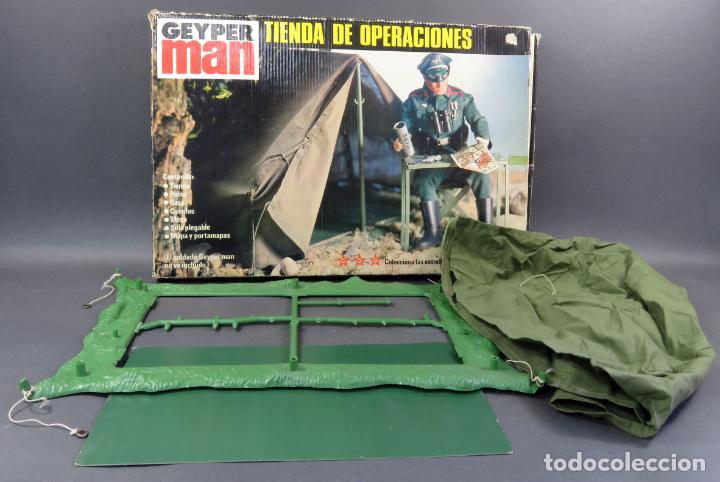 TIENDA OPERACIONES MILITAR GEYPERMAN CON CAJA AÑOS 70 (Juguetes - Figuras de Acción - Geyperman)