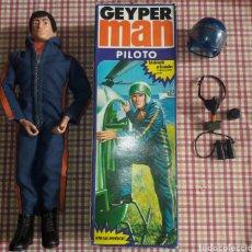 Geyperman: GEYPERMAN PILOTO.NUEVO.MANIQUI PERFECTO.ORIGINAL TRANSICION. CAJA.ACCESORIOS.GEYPER MAN.. Lote 147845009