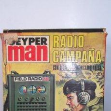 Geyperman: RADIO CAMPAÑA-GEYPER MAN-CON 3 DISCOS- AURICULARES-AÑO 1975. Lote 158511218