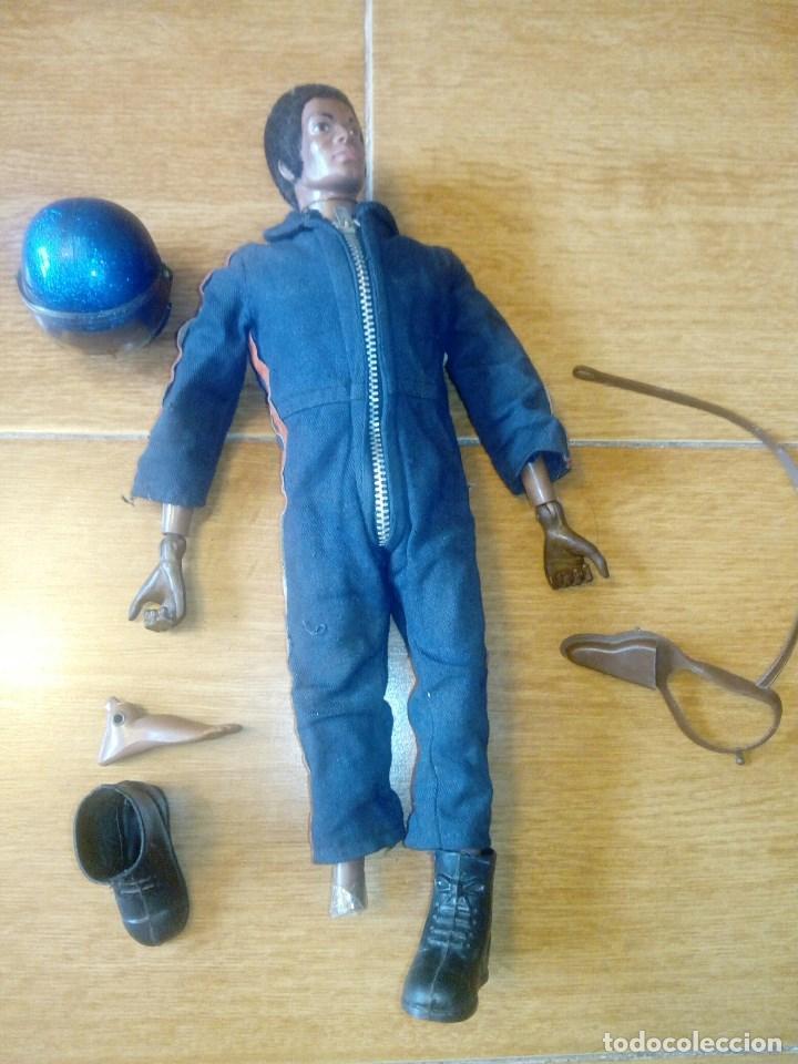 LOTE HELICOPTERO Y GEYPERMAN COLOR NEGRO (DIFICIL ENCONTRAR). ORIGINAL AÑOS 70-80 (Juguetes - Figuras de Acción - Geyperman)
