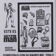 Geyperman: GEYPERMAN, FOLLETO PUBLICIDAD MISIÓN IMPOSIBLE REF. 7200/2, REEDICIÓN . Lote 183528391