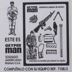 Geyperman: GEYPERMAN, FOLLETO PUBLICIDAD SOLDADO AMERICANO – MARINES USA, REF. 7108/2, REEDICIÓN . Lote 183528576