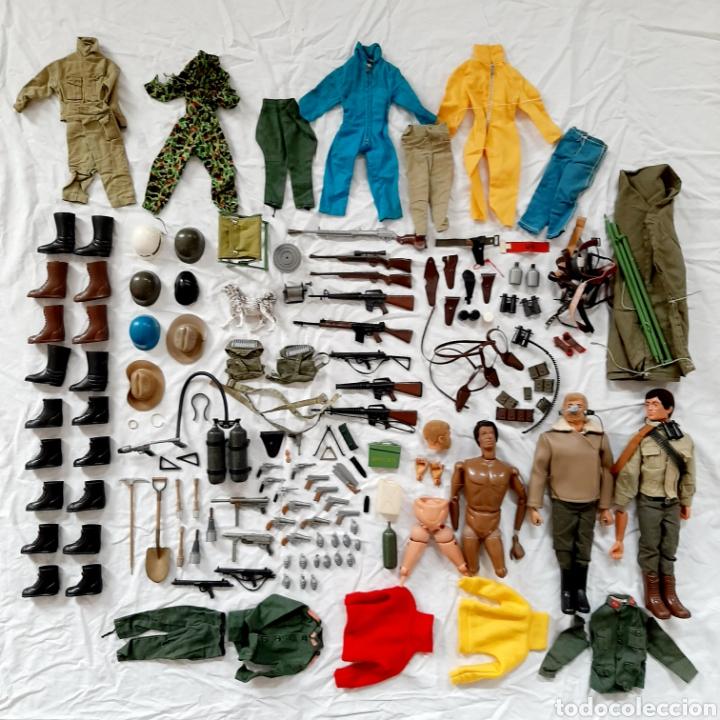 GRAN LOTE GEYPERMAN ORIGINAL / GEYPER MAN / ACCESORIOS VESTIDOS ARMAS ROPA COMPLEMENTOS (Juguetes - Figuras de Acción - Geyperman)