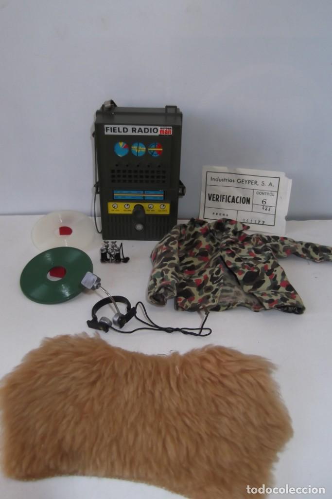 Geyperman: - GEYPER MAN - RADIO CAMPAÑA , 2 DISCOS - AURICULARES - PRISMATICOS - CAMISA Y PIEL CAMUFLAGE- 1975 - Foto 2 - 194771120