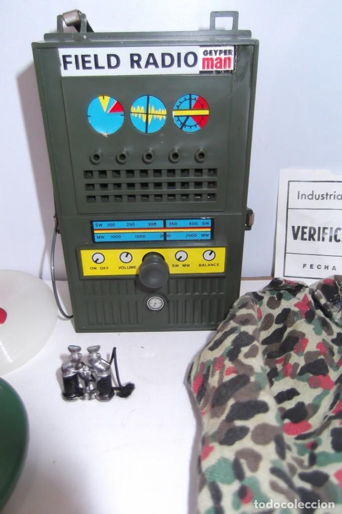 Geyperman: - GEYPER MAN - RADIO CAMPAÑA , 2 DISCOS - AURICULARES - PRISMATICOS - CAMISA Y PIEL CAMUFLAGE- 1975 - Foto 4 - 194771120