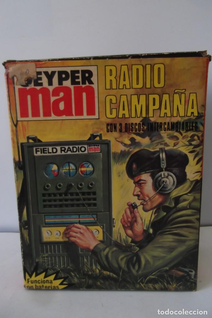 Geyperman: - GEYPER MAN - RADIO CAMPAÑA , 2 DISCOS - AURICULARES - PRISMATICOS - CAMISA Y PIEL CAMUFLAGE- 1975 - Foto 7 - 194771120