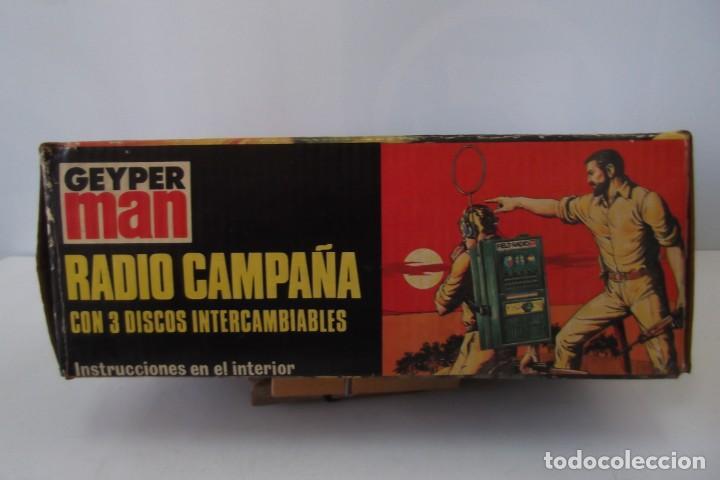 Geyperman: - GEYPER MAN - RADIO CAMPAÑA , 2 DISCOS - AURICULARES - PRISMATICOS - CAMISA Y PIEL CAMUFLAGE- 1975 - Foto 8 - 194771120