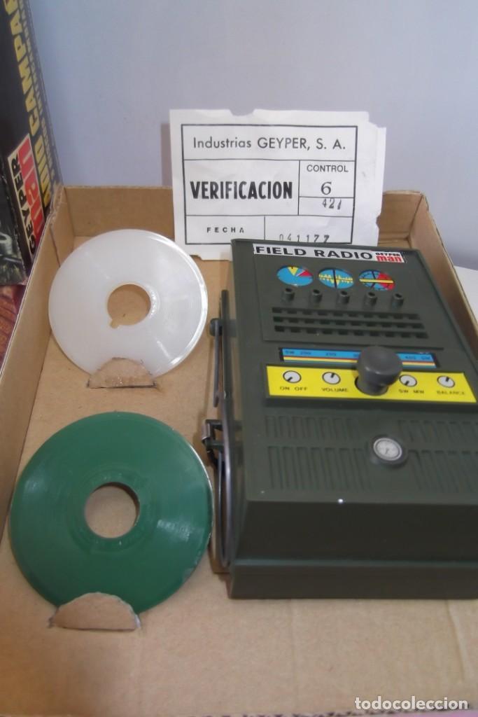 Geyperman: - GEYPER MAN - RADIO CAMPAÑA , 2 DISCOS - AURICULARES - PRISMATICOS - CAMISA Y PIEL CAMUFLAGE- 1975 - Foto 13 - 194771120
