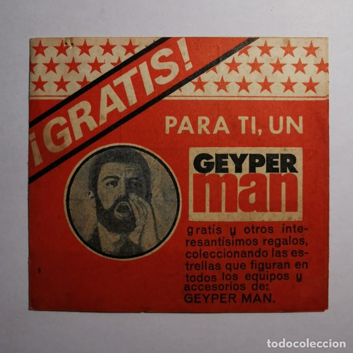 ANTIGUO DOCUMENTO GEYPERMAN - ¡GRATIS! PARA TI, UN GEYPER MAN - VALENCIA - JUGUETES ESPAÑOLES (Juguetes - Figuras de Acción - Geyperman)