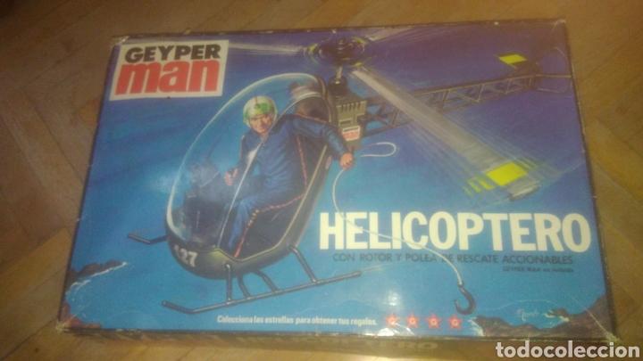 GEYPERMAN ORIGINAL. CAJA VACIA DEL HELICOPTERO. VER FOTOS. (Juguetes - Figuras de Acción - Geyperman)
