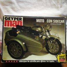 Geyperman: CAJA VACÍA GEYPERMAN MOTO CON SIDECAR MODELO FN-350, REF. 7421, 1 °EPOCA, 1975.. Lote 206383588