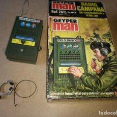 Geyperman: GEYPERMAN RADIO DE CAMPAÑA MILITAR CON CAJA ORIGINAL FUNCIONA AÑOS 70. Lote 206570198