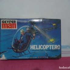 Geyperman: GEYPERMAN HELICOPTERO CAJA VACIA 1975 HASBRO INDUSTRIES INC USA MADE IN SPAIN. Lote 215833551