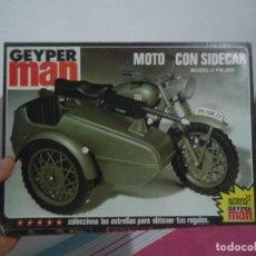 Geyperman: GEYPERMAN MOTO CON SIDECAR CAJA VACIA 1975 HASBRO INDUSTRIES INC USA MADE IN SPAIN. Lote 215833740