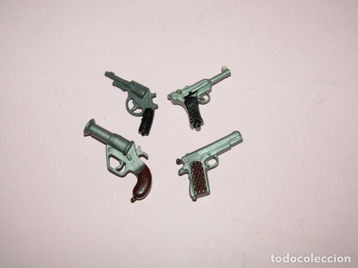 ANTIGUO LOTE DE 4 PISTOLAS DE GEYPERMAN ORIGINAL - AÑO 1970-80S. (Juguetes - Figuras de Acción - Geyperman)