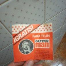 Geyperman: CARNET PARA CONSEGUIR REGALOS GEYPERMAN AÑOS 70. Lote 236961095
