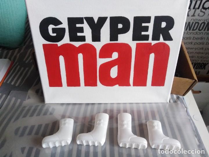 GEYPERMAN. BOTAS BLANCAS EXPLORADOR POLAR, TROPA POLAR. ULTIM VERSIÓN CON LA CAÑA AMPLIADA (Juguetes - Figuras de Acción - Geyperman)