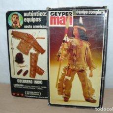 Geyperman: GEYPERMAN TRAJE GUERRERO INDIO REF. 7511 EN CAJA OESTE GEYPER 1/6 AÑOS 70 ACTION MAN GI JOE 1:6. Lote 245090150