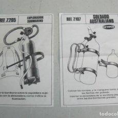 Geyperman: 41- GEYPERMAN INSTRUCCIONES SOLDADO AUSTRALIANO Y EXPLORADOR SUBMARINO 1/6 AÑOS 70 ACTION MAN 1:6. Lote 245295035