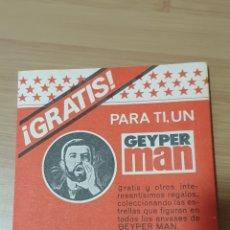 Geyperman: CARNET GEYPER MAN - CARNET GEYPERMAN - CARNET GRATIS PARA TI, UN GEYPER MAN -NO MADELMAN. Lote 257315015