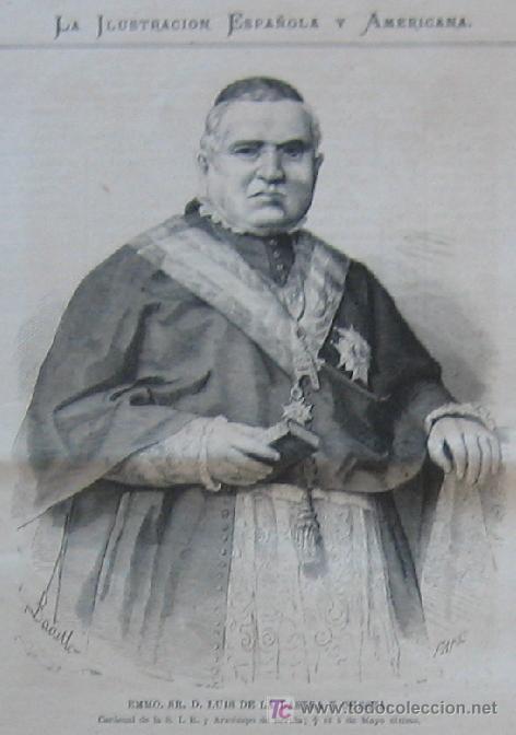 EMMO. SR. D. LUIS DE LA LASTRA Y CUESTA - ARZOBISPO DE SEVILLA - G-00963 (Arte - Grabados )