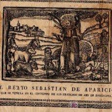 Grabados : GRABADO EL BEATO SEBASTIAN DE APARICIO, QUE SE VENERA EN EL CONVENTO SAN FRANCISCO DE BARCELONA 1785. Lote 8837660